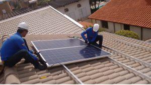posicionamento dos módulos de paínes solar