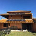 Frente da residencia onde foi instalada a Energia Solar