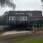 Fachada da residencia projeto casa sobreposta