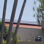 Vista do telhad com placas Solar - Projeto Zona Sul